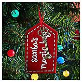 Santa's Magic Key Christmas Tree Decoration