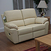 Furniture Link Monzano Two Seat Reclining Sofa in Ivory - Ivory