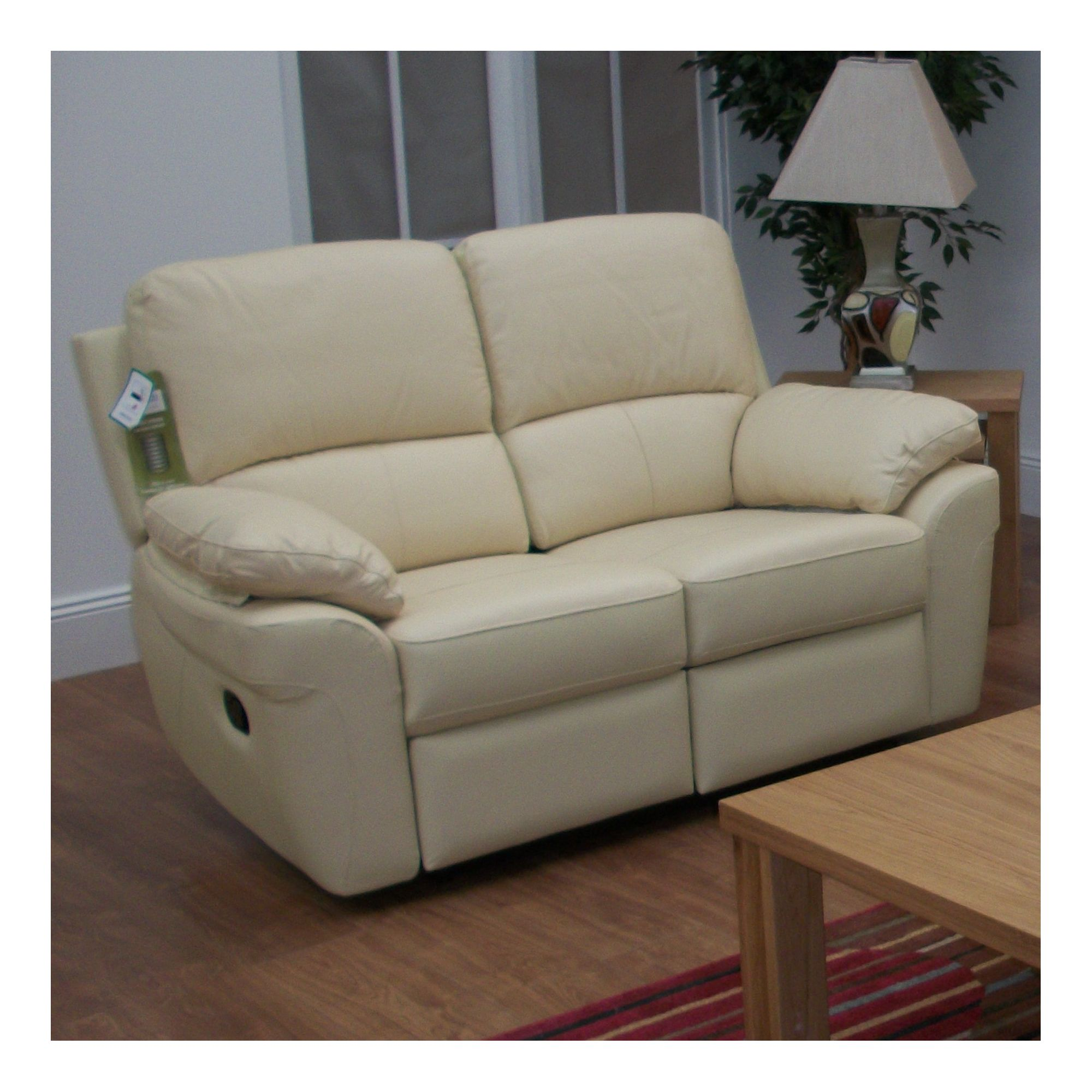 Furniture Link Monzano Two Seat Reclining Sofa in Ivory - Ivory at Tesco Direct