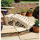 Norfolk Leisure Adirondack Footrest in Colonial White Wash