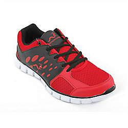 Woodworm Sports Ezr Mens Running Shoes / Trainers Red/Black Size 7