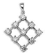 Jewelco London 18 Carat White Gold 45pts Diamond Pendant