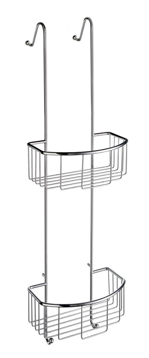 Smedbo Sideline Hanging Double Level Shower Basket in Polished Chrome