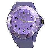 Tresor Paris Watch 018797 - Stainless Steel Bezel - Silicone Strap - Diamond Set Dial - 44mm - Lilac