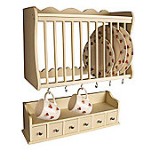 Minack Plate Rack & Spice Drawers Set Buttermilk