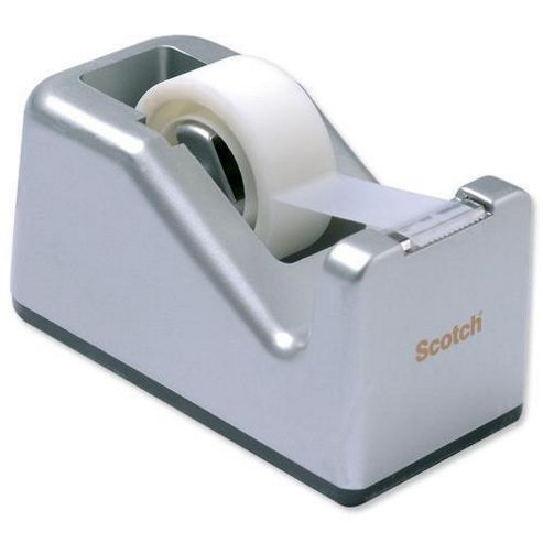 Scotch Magic Tape Compact Dispenser Desktop with 1 Roll 19mmx10m Silver