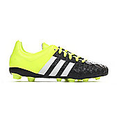 adidas Ace 15.4 FG Firm Ground Kids Football Boot Yellow/Black - Black