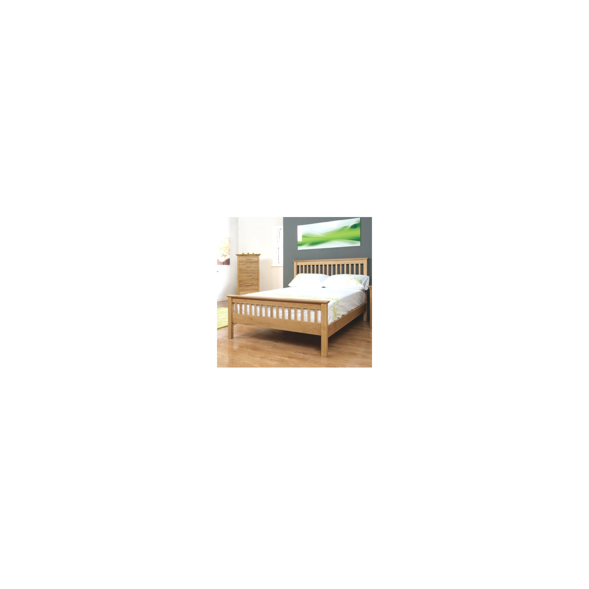 Elements Caitlin Oak Bed - Small Double at Tesco Direct