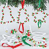 Christmas Bead Decoration Kits (6 Pcs)