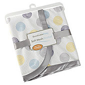 BreathableBaby Cellular Mesh Fashion Blanket in Silver Swirl