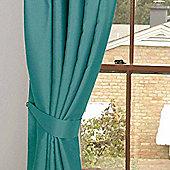 Homescapes Teal Herringbone Chevron Curtains Tie Backs Pair