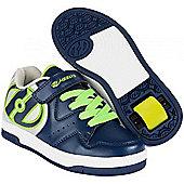 Heelys Hyper Navy/Silver/Green Heely Shoe - Blue