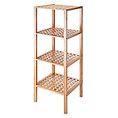 VonHaus 4-Tier Bamboo Lattice Shelves