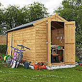 BillyOh Keeper Overlap Apex Wooden Garden Shed - 12 x 6 Windowless