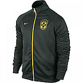 2014-15 Brazil Nike Core Trainer Jacket (Black) - Black