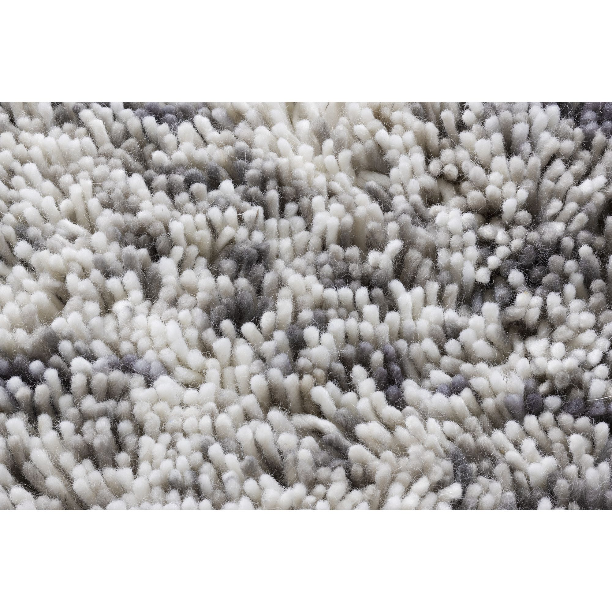 Linie Design Coral Grey Shag Rug - 300cm x 200cm at Tesco Direct