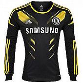 2012-13 Chelsea 3rd Adidas Long Sleeve Shirt - Black