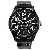 CAT Camden 48MM Mens Leather Day & Date Seconds Sub Dial Watch NI.169.34.131