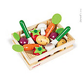 Janod Wooden Vegetable Crate with 12 Vegetables for 4 yrs+