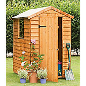 6ft x 4ft (1.84m x 1.33m) Select Overlap Apex 6 x 4 Wooden Garden Shed + Single Door