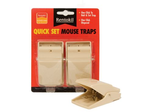 Renotkil Fq01 Quick Set Mouse Traps X2