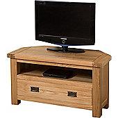 Cottage Solid Oak Corner TV Unit