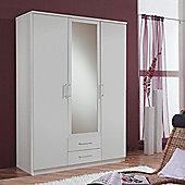 Amos Mann furniture Venice 3 Door 2 Drawer Wardrobe - White