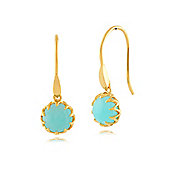 Gemondo Amazonite 'Calo' Pastel Earrings in 9ct Yellow Gold Plated Sterling Silver