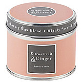 Tesco Citrus Fruit and Ginger Candle in a Tin
