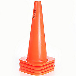 "Precision Training 18"" Traffic Cones (Set of 4) Ideal For All Sports"