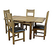 Furniture Link Hampshire 5 Piece Square Extending Dining Collection