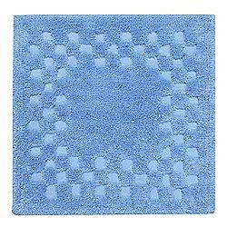 Homescapes Cotton Check Border Blue Shower Mat