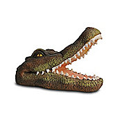 Open Jaw Floating Crocodile Head Pond Feature Ornament