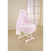 Leipold Sweety Wicker Drape Crib in Pink