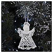 White Crochet Angel Christmas Tree Decoration