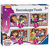 Dora and Friends - 4 in 1 Puzzle