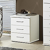 Amos Mann furniture Venice Bedside Table - White