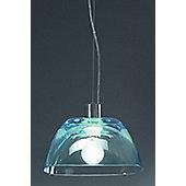 Lucente Pinko 1 Light Bowl Pendant - Red - 131cm H x 14cm W x 14cm D