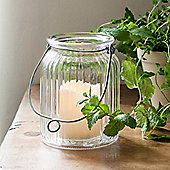 Large Glass Battery LED Candle Lantern Jar
