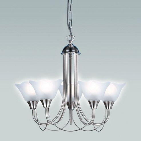Endon Lighting Five Chandelier in Satin Chrome