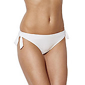 F&F Textured Side Tie Bikini Briefs - White