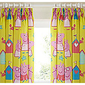 Peppa Pig, Childrens Curtains 54s - Seaside - Multi