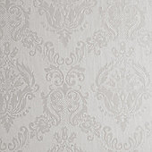 Superfresco Damask Shimmer Ivory Wallpaper