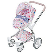 Baby Born 2 In 1 Fashion Dolls Pram & Comfort Seat