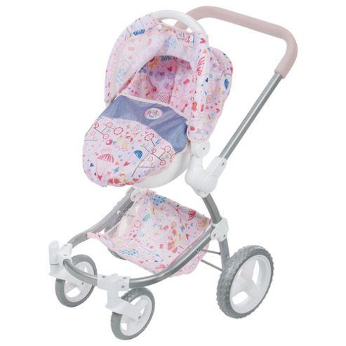 Baby Born 2 In 1 Fashion Dolls Pram & Comfort Seat