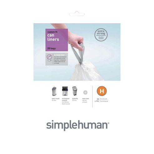 Simplehuman H Bin Liner (30L) 20pk
