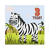 Jungle Friends Boys 3rd Birthday Card