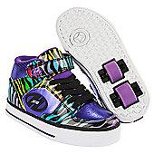 Heelys Cruz Purple/Rainbow/Zebra Heely Shoe - Black