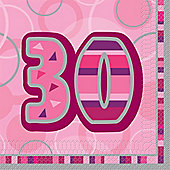 30th Paper Luncheon Napkins 33cm