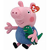 TY Peppa Pig & Friends Beanie Buddy Soft Toy - George Pig